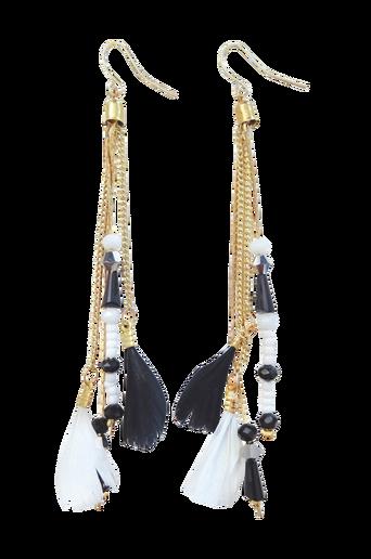 Pipol´s Bazaar Earring Binta Feather Ear Black -korvakorut