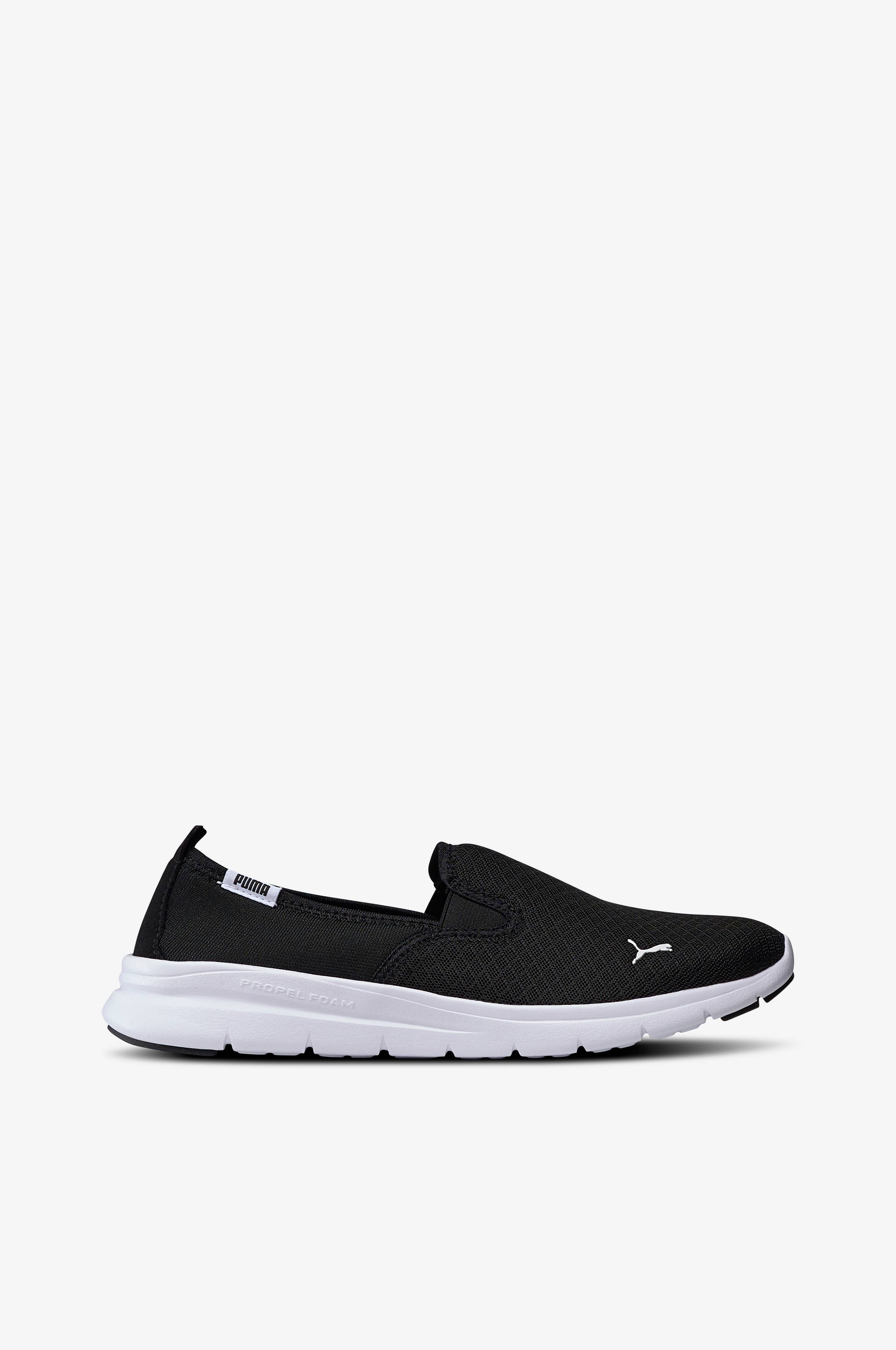 Puma Sneakers Flex Essential Slip On Svart Dame Ellos.no