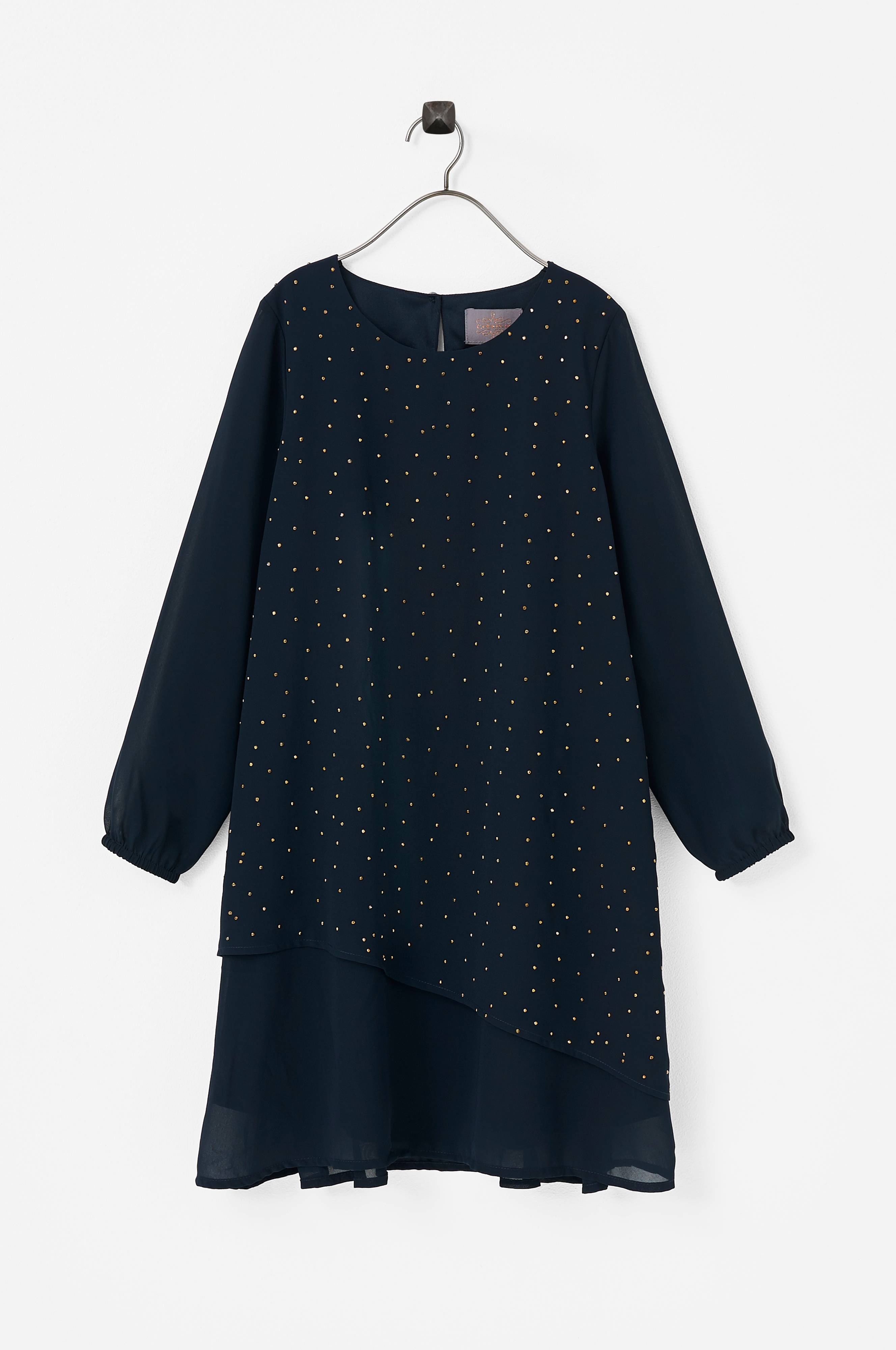 Creamie Layer Chiffon Dress -mekko - Sininen - Lapset - Ellos.fi 54eb9bda38