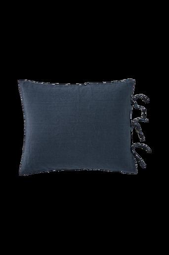 Candice tyynyliina solmimisnauhoilla, pestyä pellavaa