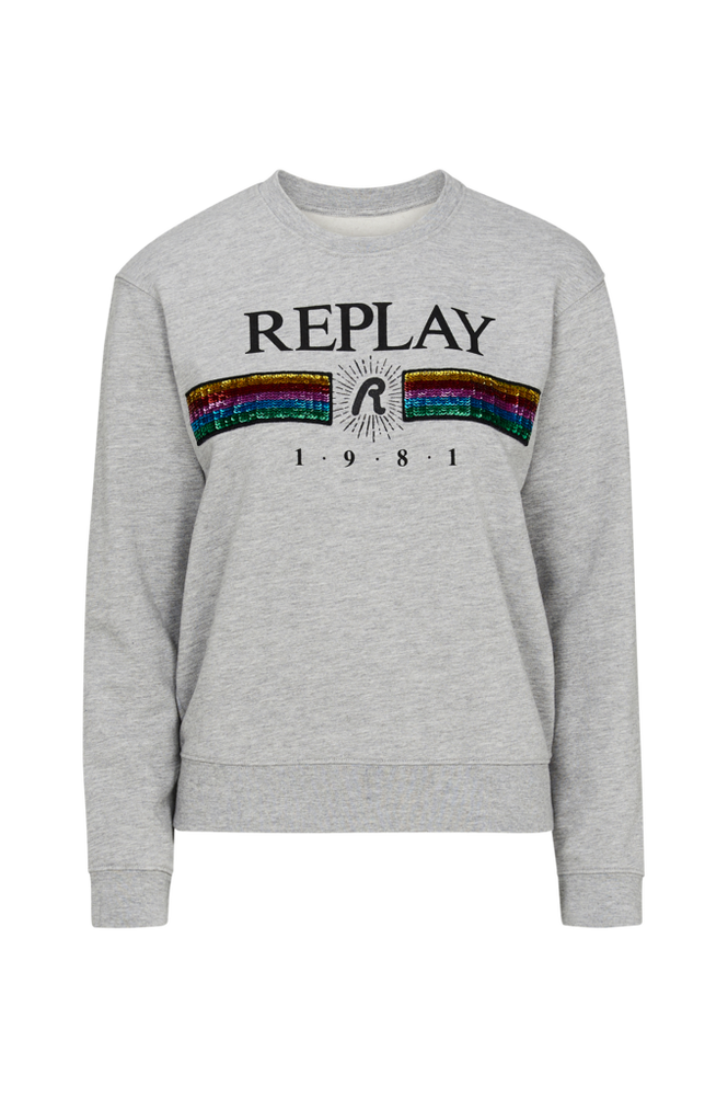 Replay Sweatshirt med pailletter