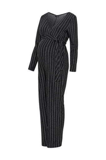 Ls Pinstripe -äitiys-jumpsuit