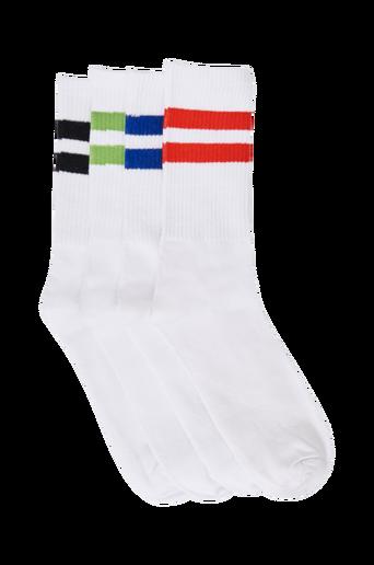 Jack & Jones jacLogo Tennis Socks -sukat, 4 paria. Stretchtrikoota ja joustinneulosvarsi, jossa eri värit.