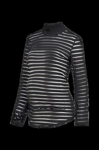 Ls Striped Mesh Top -äitiyspusero