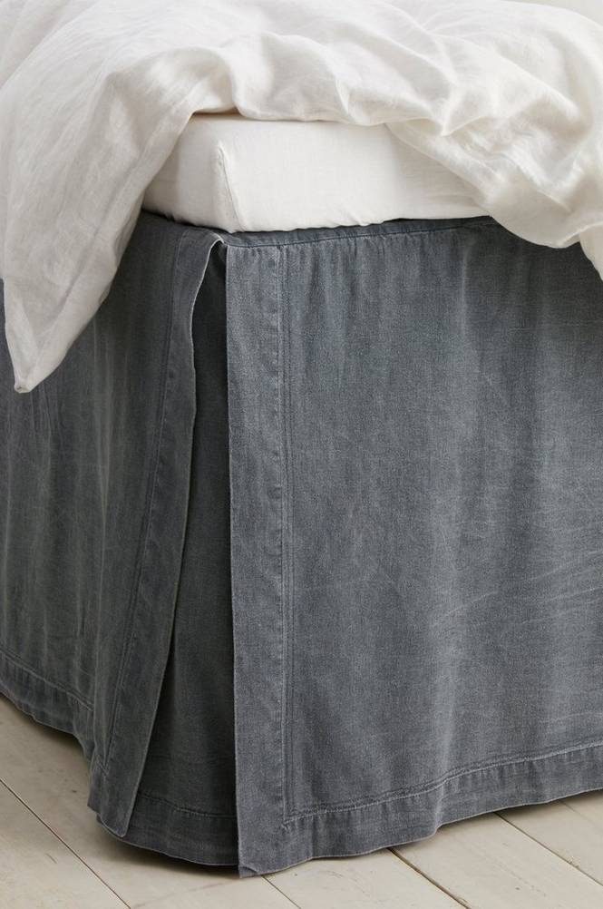 Sängkappa Rania i tvättad bomull höjd 60 cm