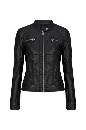 OnlBandit Faux Leather Biker -bikertakki