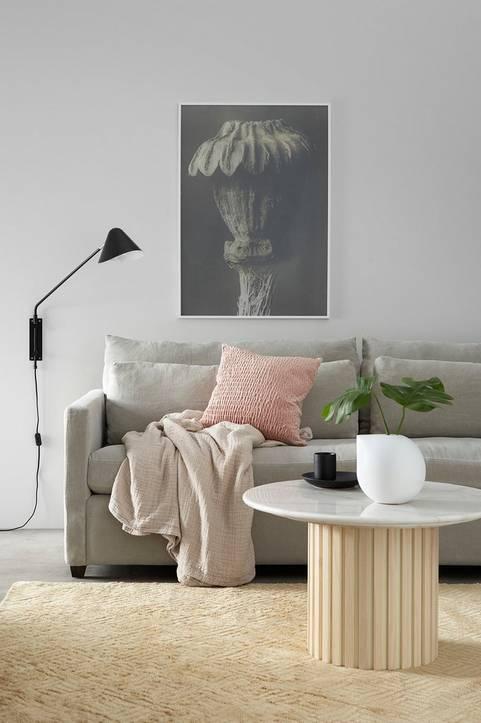 Soffa Waldoria 4-sits med linneklädsel