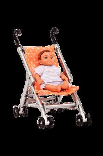 Lundby-sateenvarjorattaat + vauvanukke