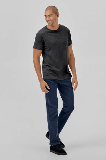 Chinos Smart Flex Alpha Khaki, slim tapered fit