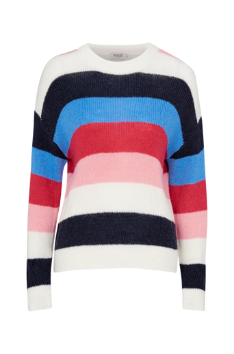 Frida Striped Pullover LS neulepusero