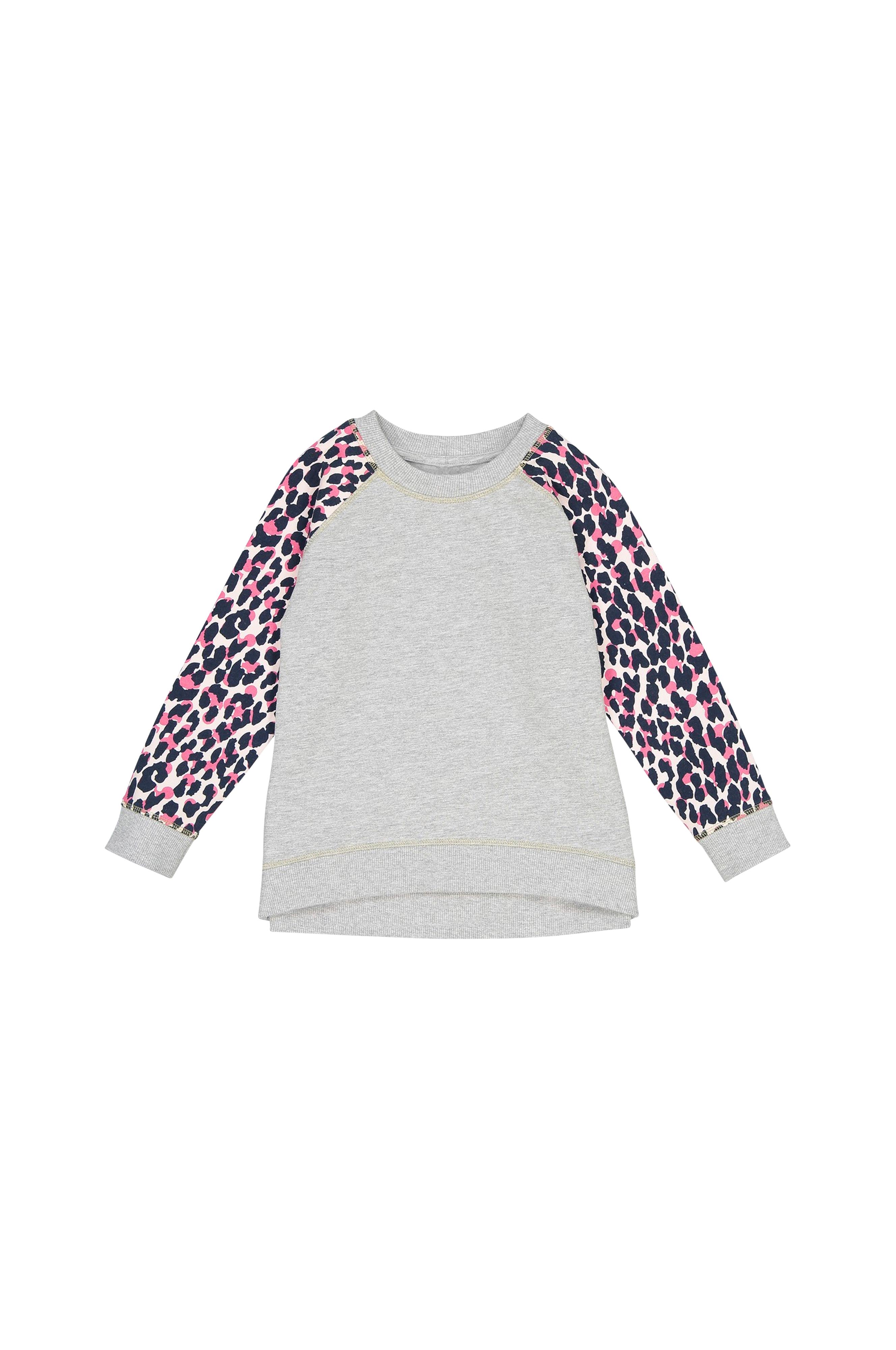 La Redoute Sweatshirt Med Mønstret Raglanærme Grå Børn Ellosdk