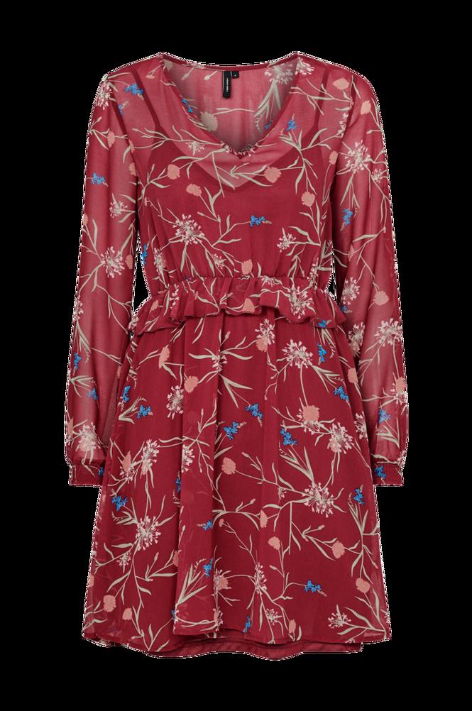 Vero Moda Kjole vmBecca LS Short V-Neck Dress