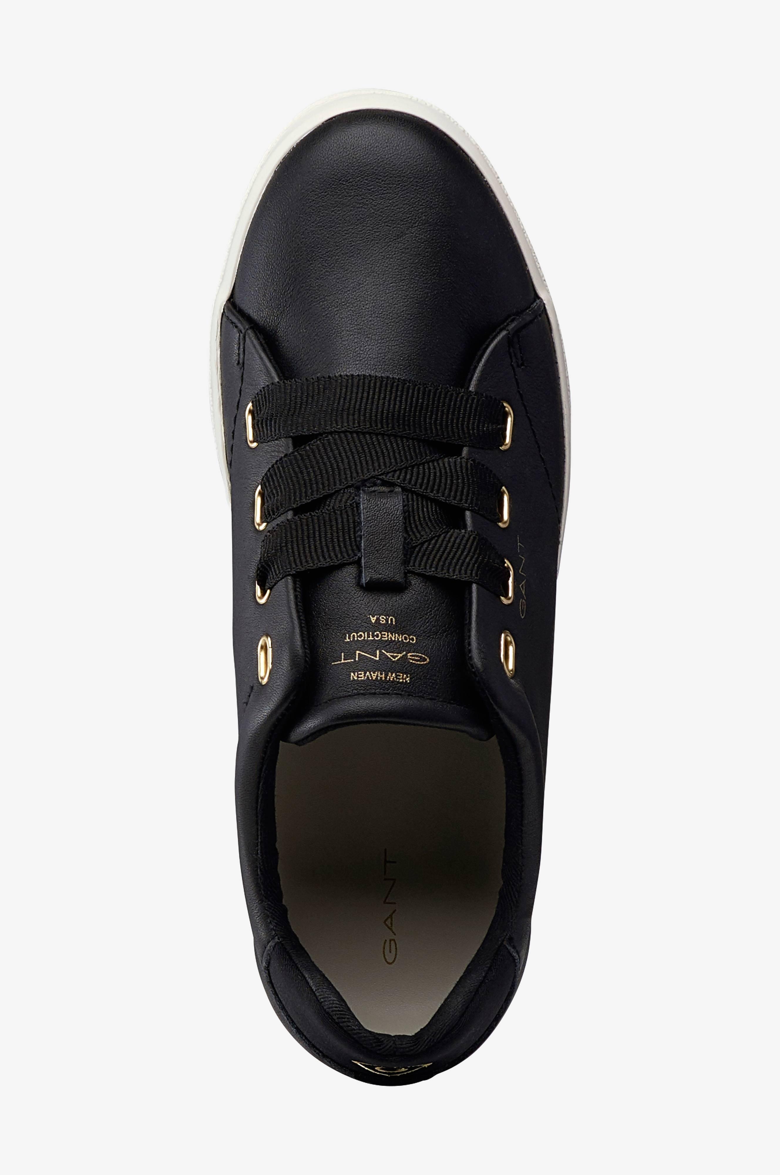 Gant Sneakers Aurora Low Lace i skinn Svart Dame Ellos.no