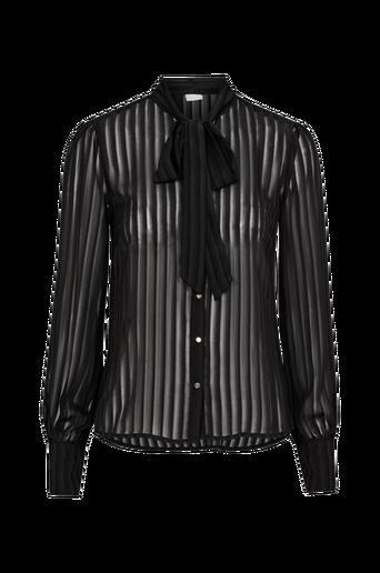 ViAddie L/S Bow Shirt -paitapusero, jossa solmittavat nauhat