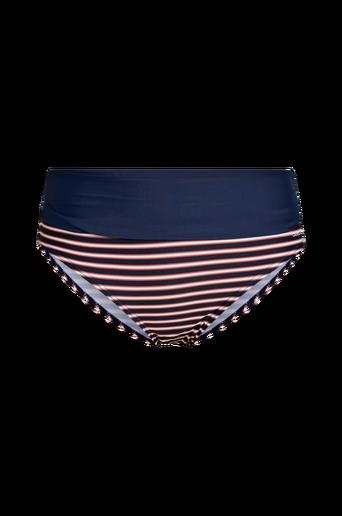Bikinihousut Retro Navy, joissa taitettava reuna