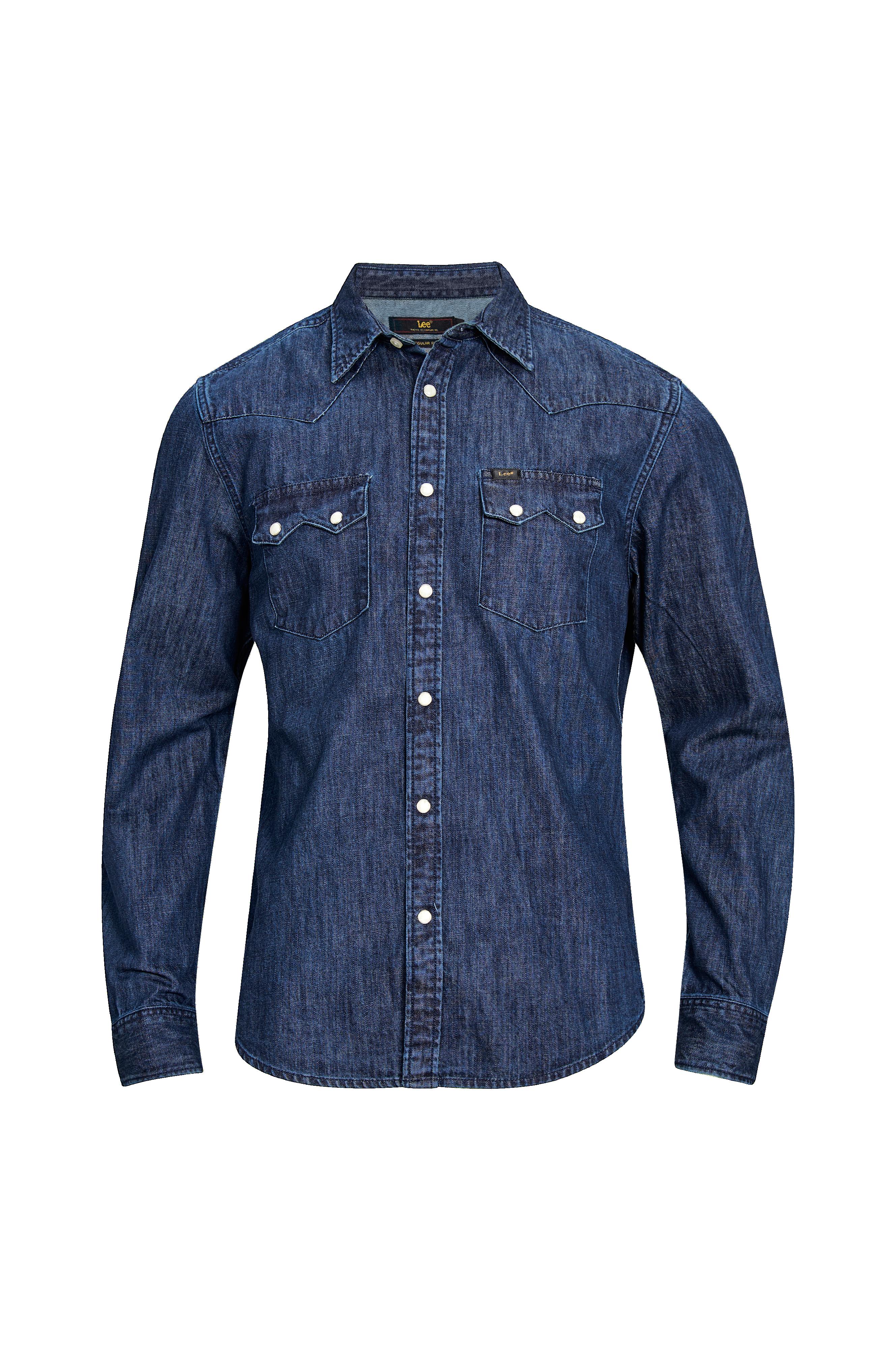 Lee Skjorte Rider Shirt Blå Langermede skjorter til