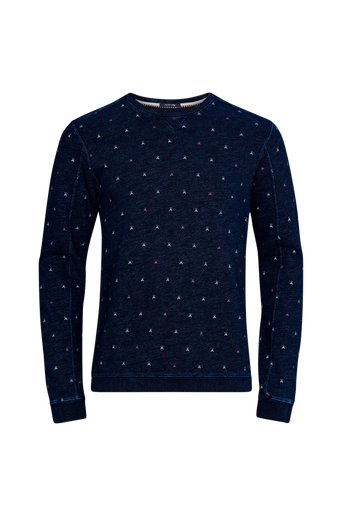 Ams Blauw Indigo Sweat collegepusero