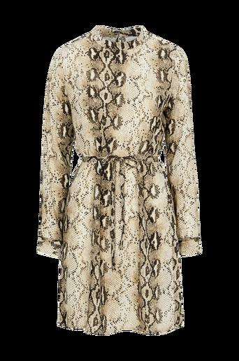 ViAmella L/S Dress -mekko, jossa käärmekuvio