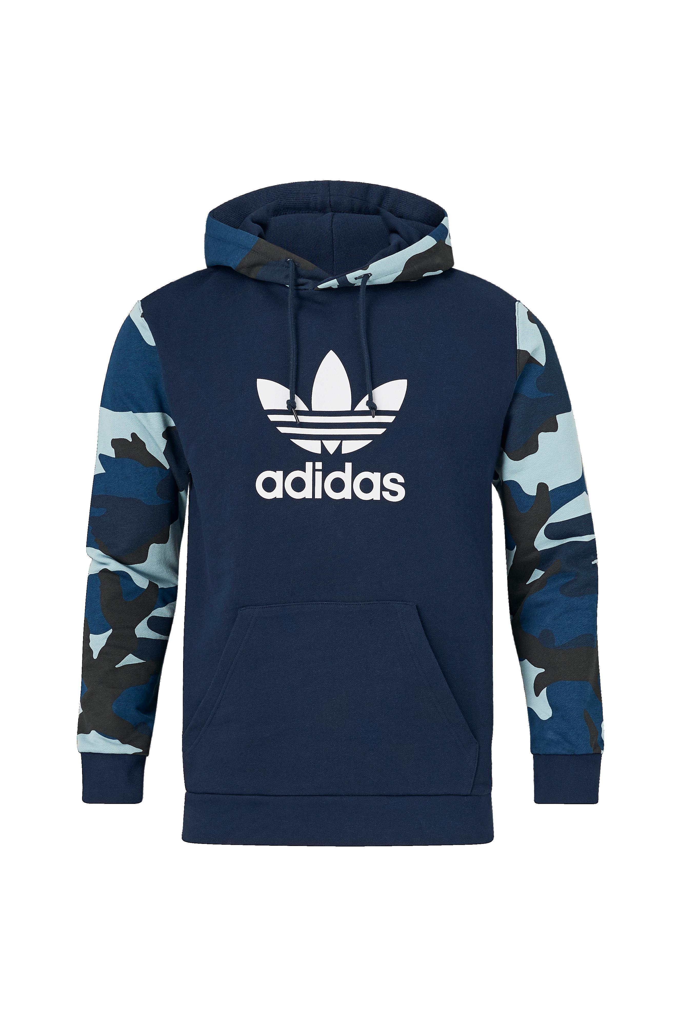 adidas Originals Hettegenser Camouflage Hoodie Blå Herre