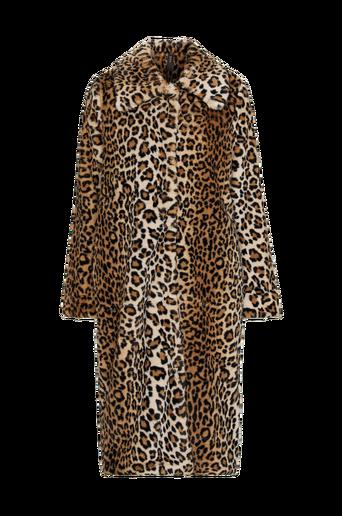 Leo Faux Fur Coat -tekoturkistakki, leopardikuvioinen