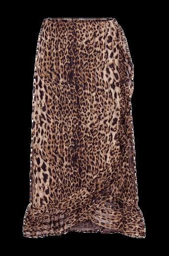 Amaze Skirt röyhelöhame, leopardikuvio