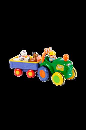 Maatilan traktori ja peräkärry