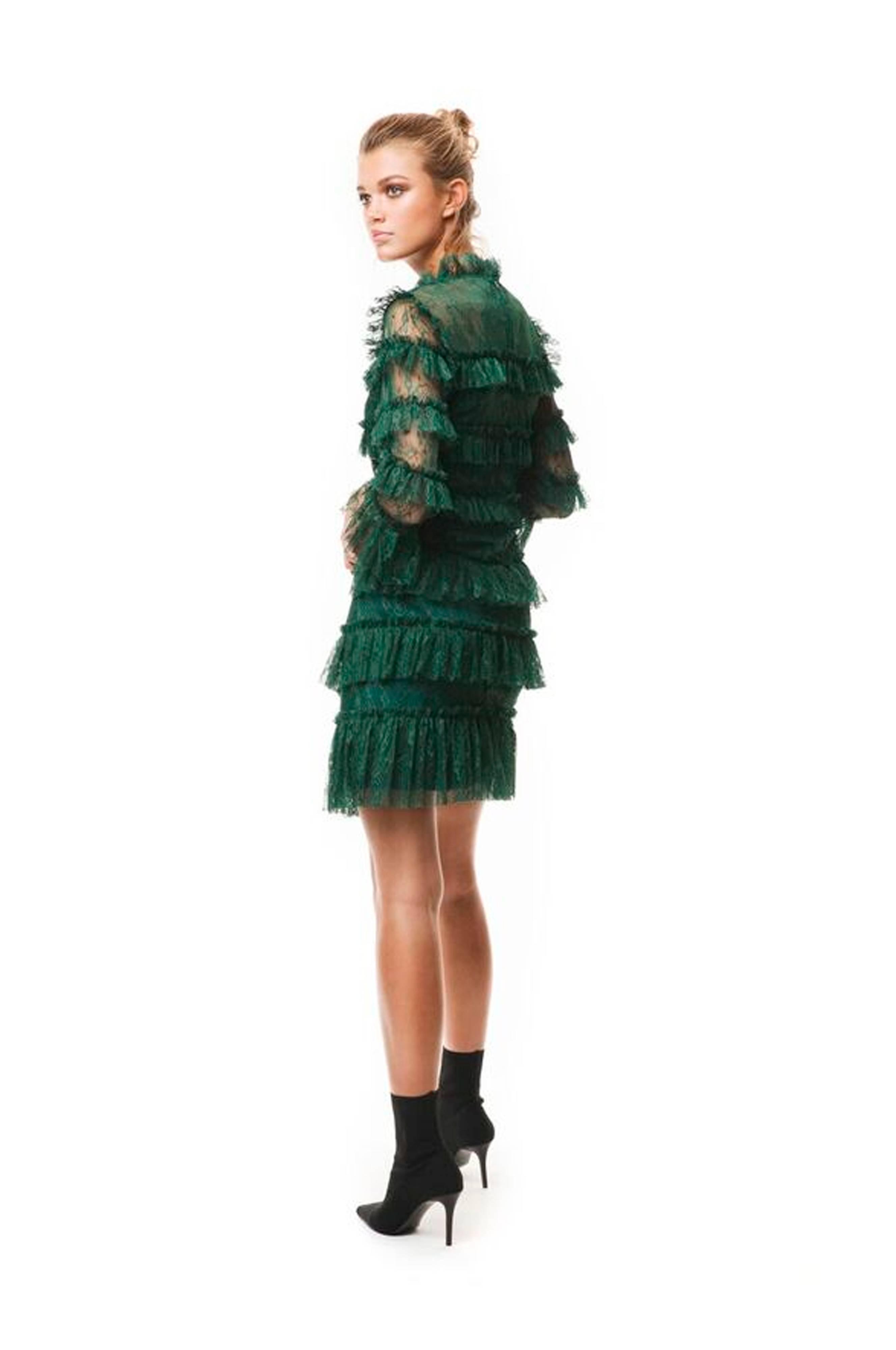 By Malina Blondekjole Carmine Mini Dress Grønn Dame
