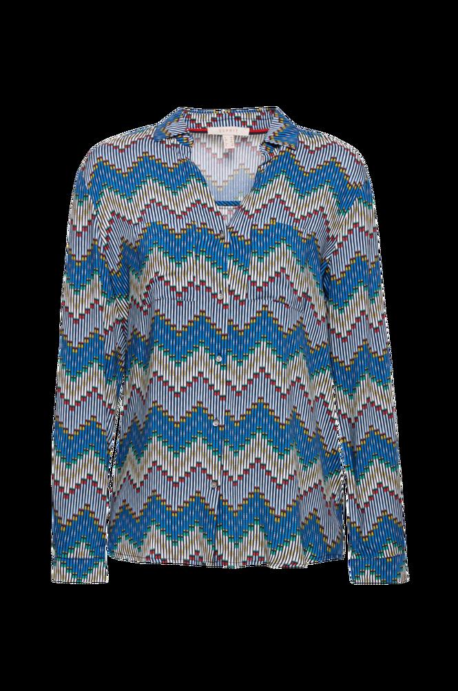 Esprit Bluse med farvestrålende mønster
