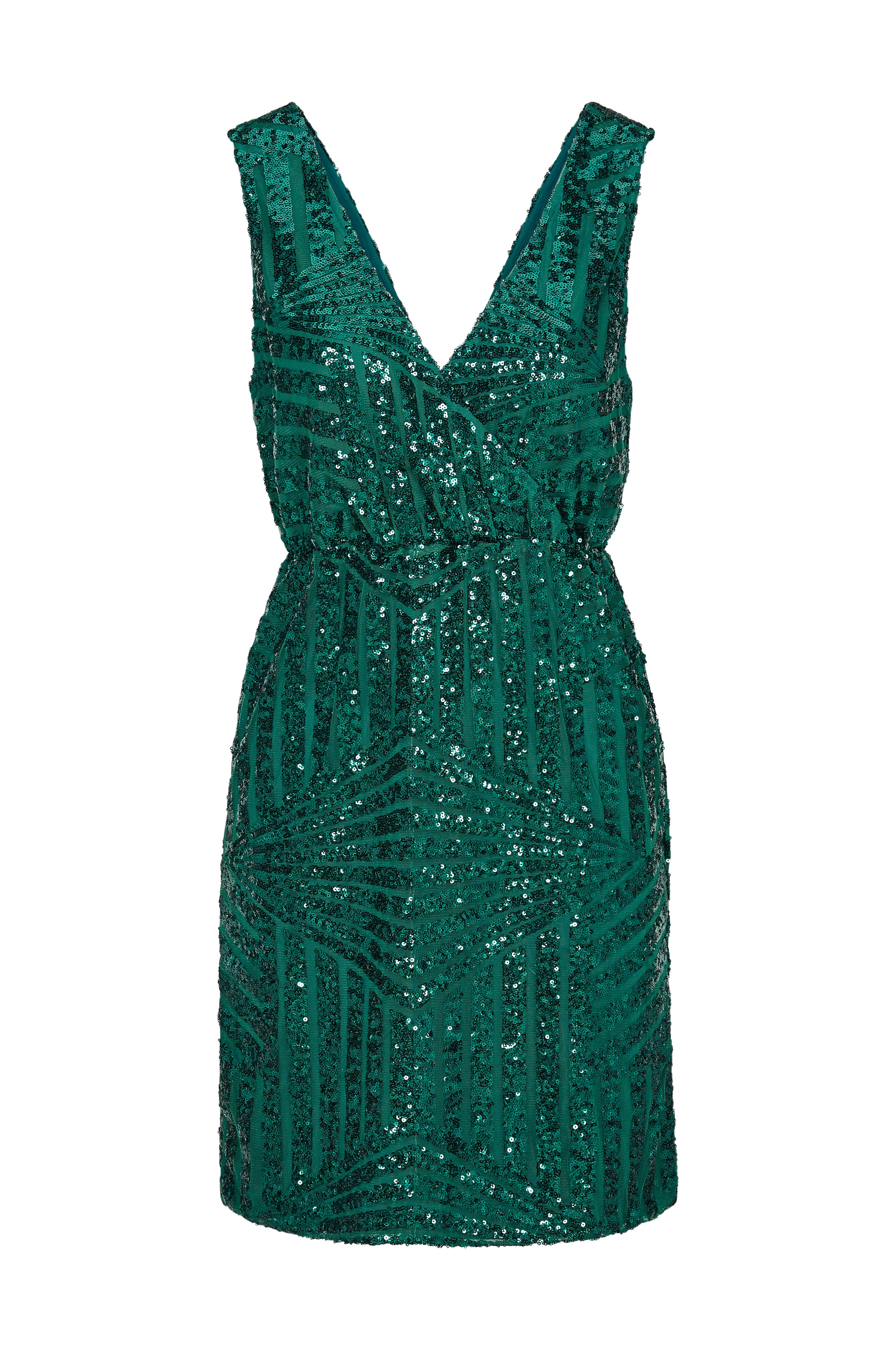73fd2325 Dame Dame Dame Grønn Dress Dress Dress Vila no Ellos Paljettkjole viMikka  SL tIBxwqXW4x