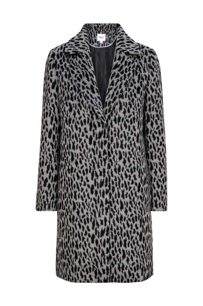 Saint Tropez Frakke Animal Printed Coat