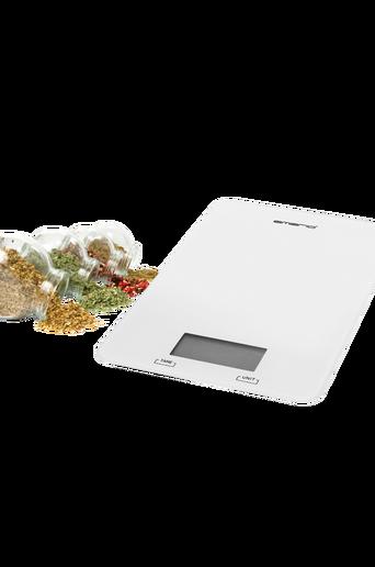 Keittiövaaka Valkoinen kapasiteetti jopa 5 kg
