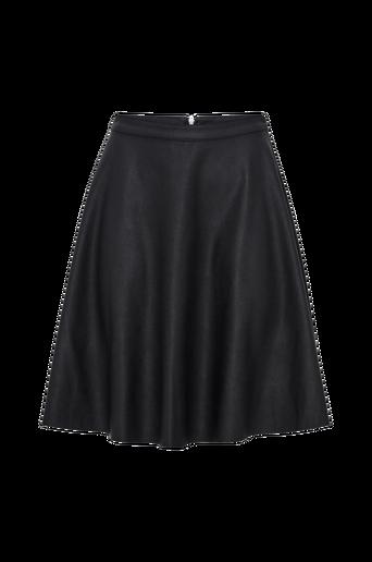 OnlAmber Faux Leather Skater Skirt -hame