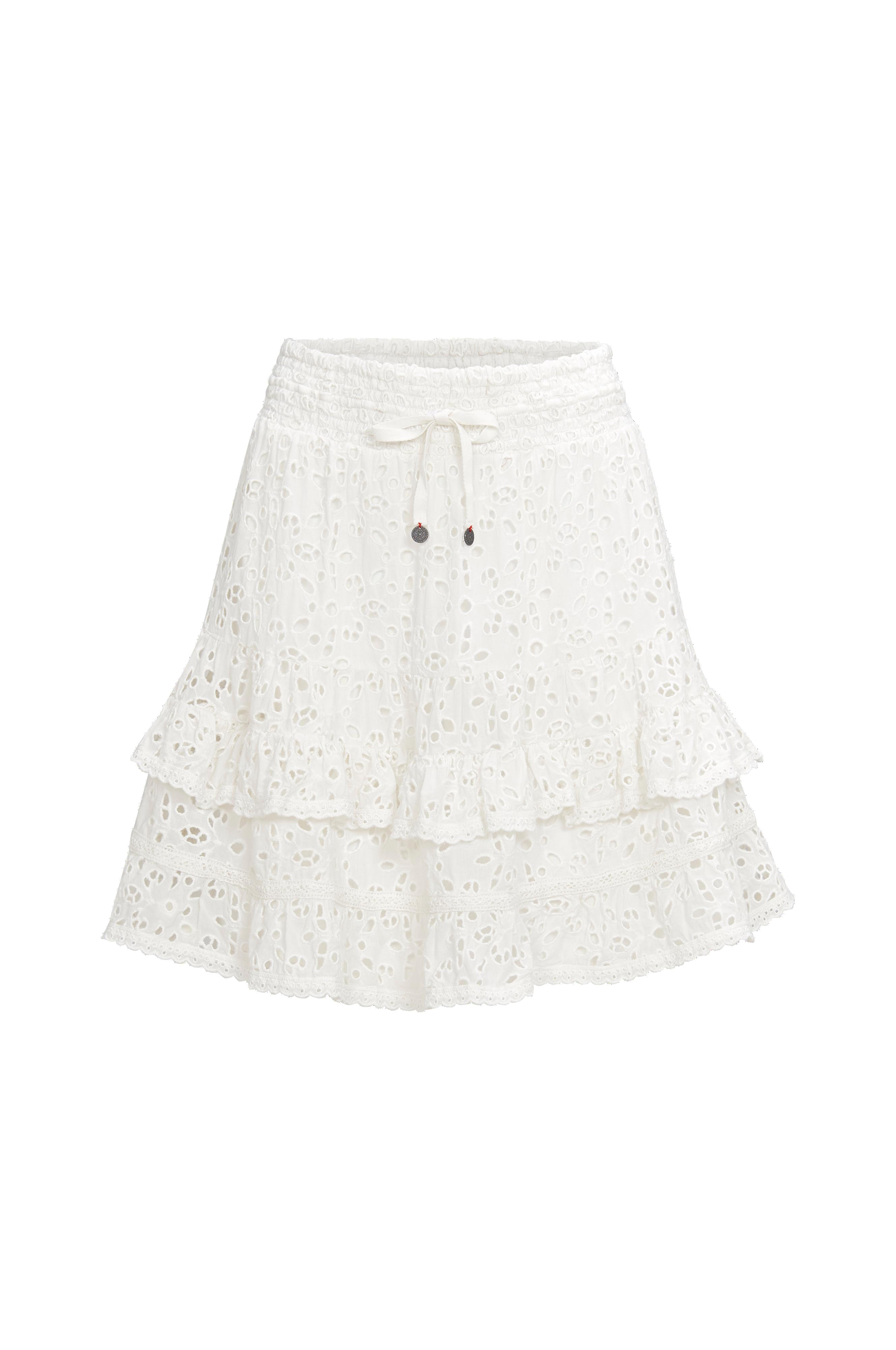 Odd Molly Kjol Swag Blossom Skirt Vit Korta kjolar