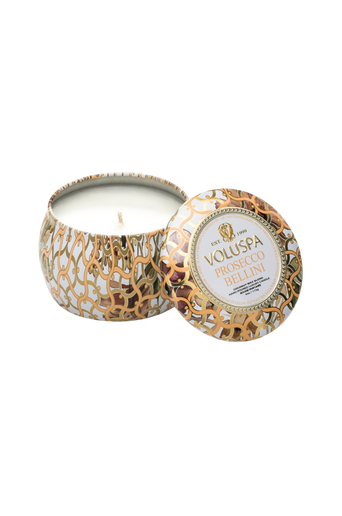 Prosecco Bellini - Decorative Tin Candle 25 h