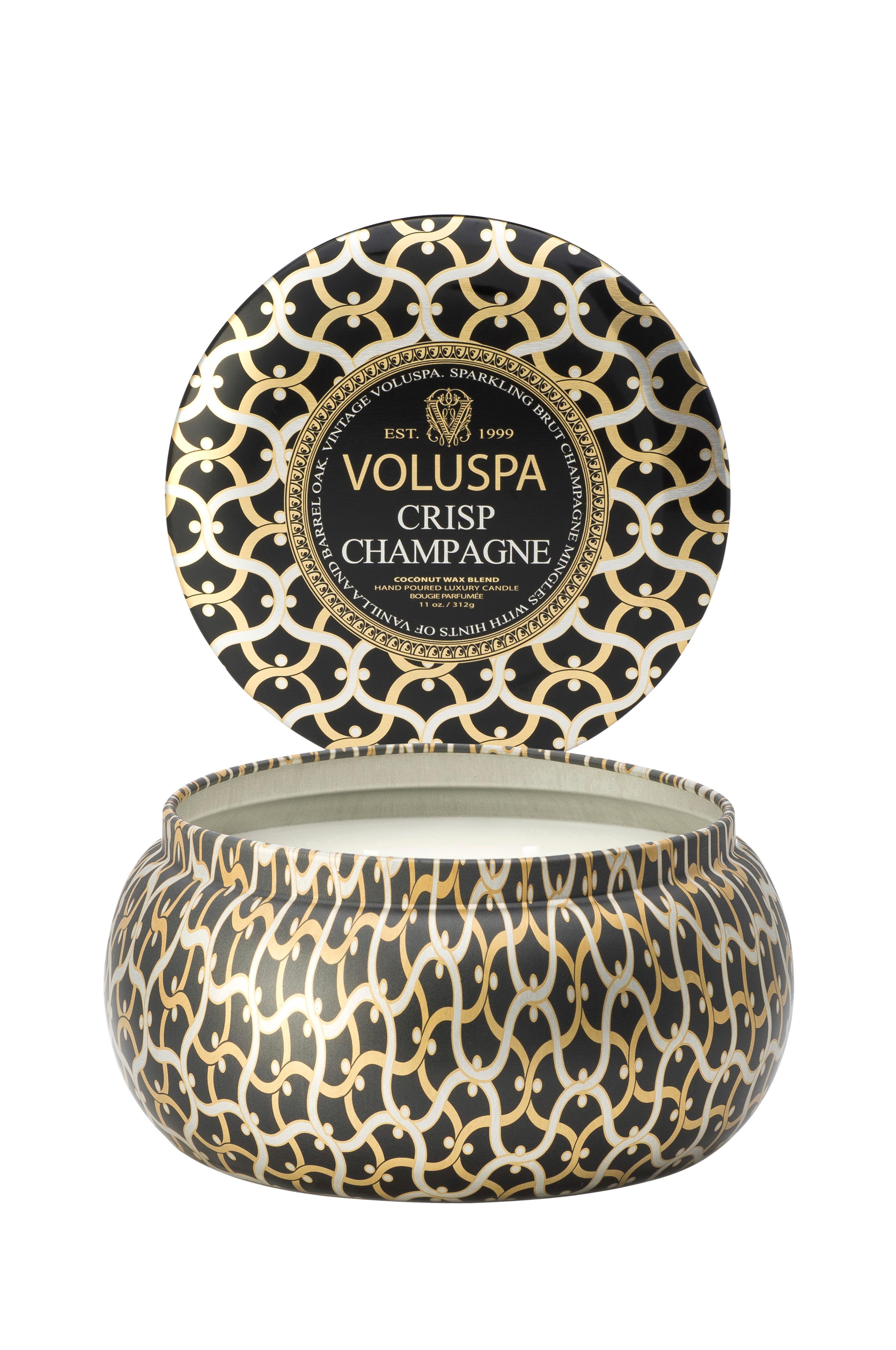 bli billig exklusiva skor detailing Voluspa Crisp Champagne - 2 Wick Maison Metallo Candle 50h - Hem ...