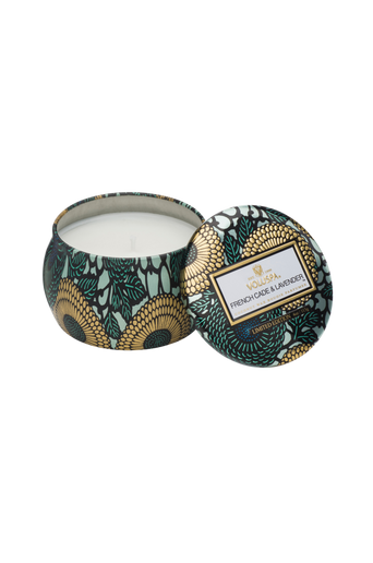 French Cade & Lavender - Decorative Tin Candle 25 h