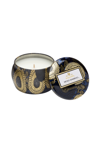 Moso Bamboo - Decorative Tin Candle 25 h