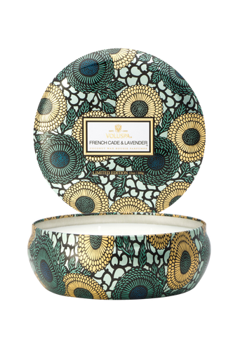 French Cade & Lavender - 3 Wick Candle in Decorative Tin 40 h