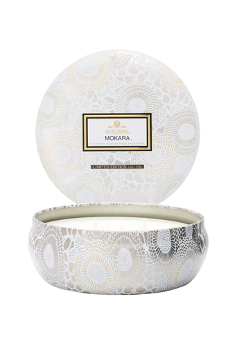 Mokara - 3 Wick Candle in Decorative Tin 40 h