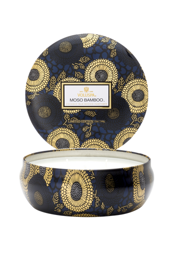 Moso Bamboo - 3 Wick Candle in Decorative Tin 40 h