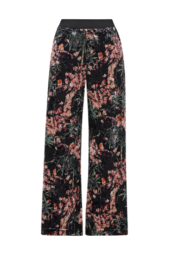 OnlAlex x Wide Printed Velvet Pant -housut