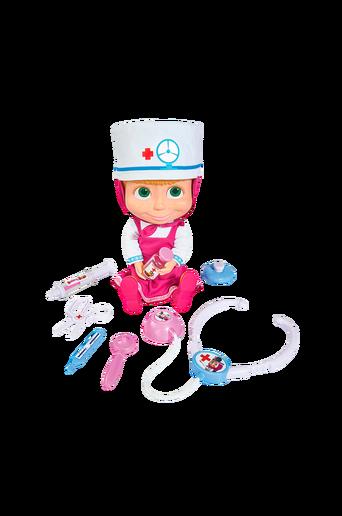 Masha-nukke ja lääkärintarvikkeet