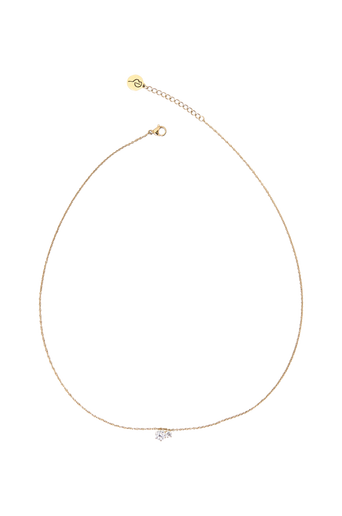 Crown Necklace Double Gold -kaulakoru
