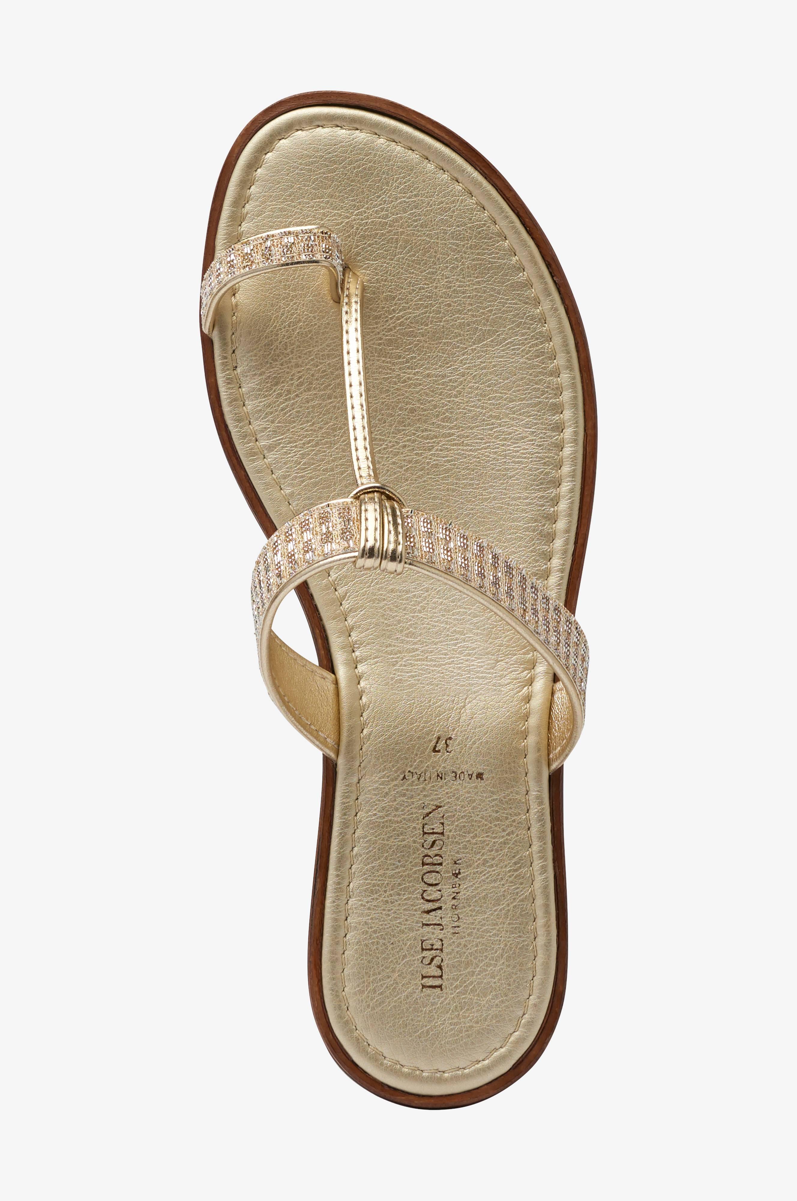 Ilse Jacobsen Sandal Poppy Slip In Guld Dam Ellos.se