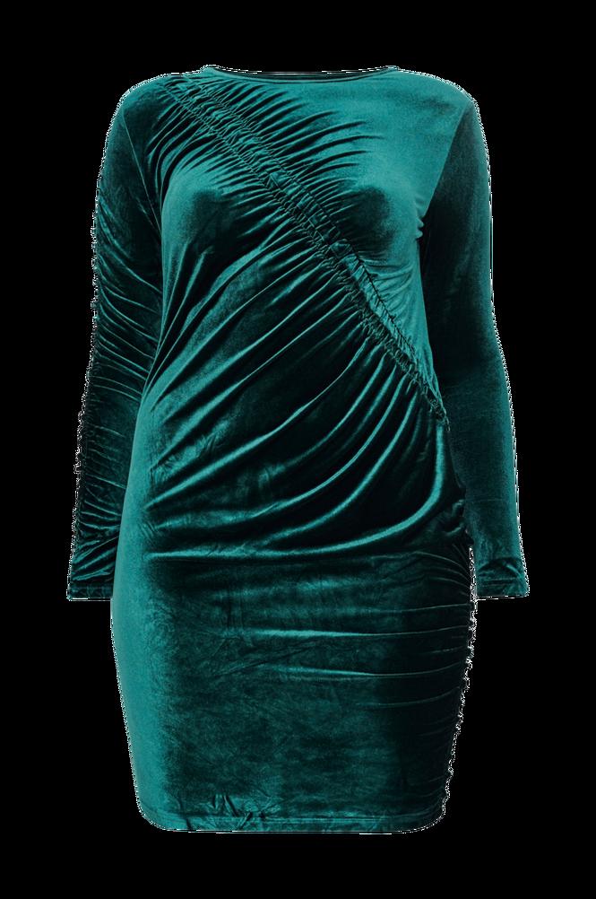 Only Carmakoma Velourkjole carDelta LS Bodycon Dress