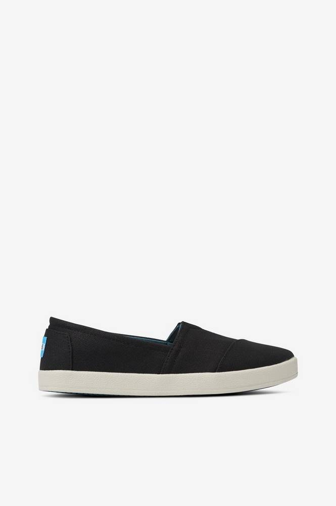 TOMS Sneakers Black Coated Canvas Avalon