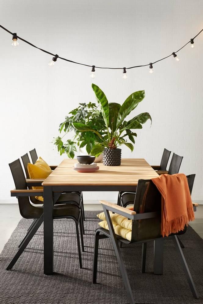 Matgrupp Sunnanäng bord 210×100 och 6 stolar