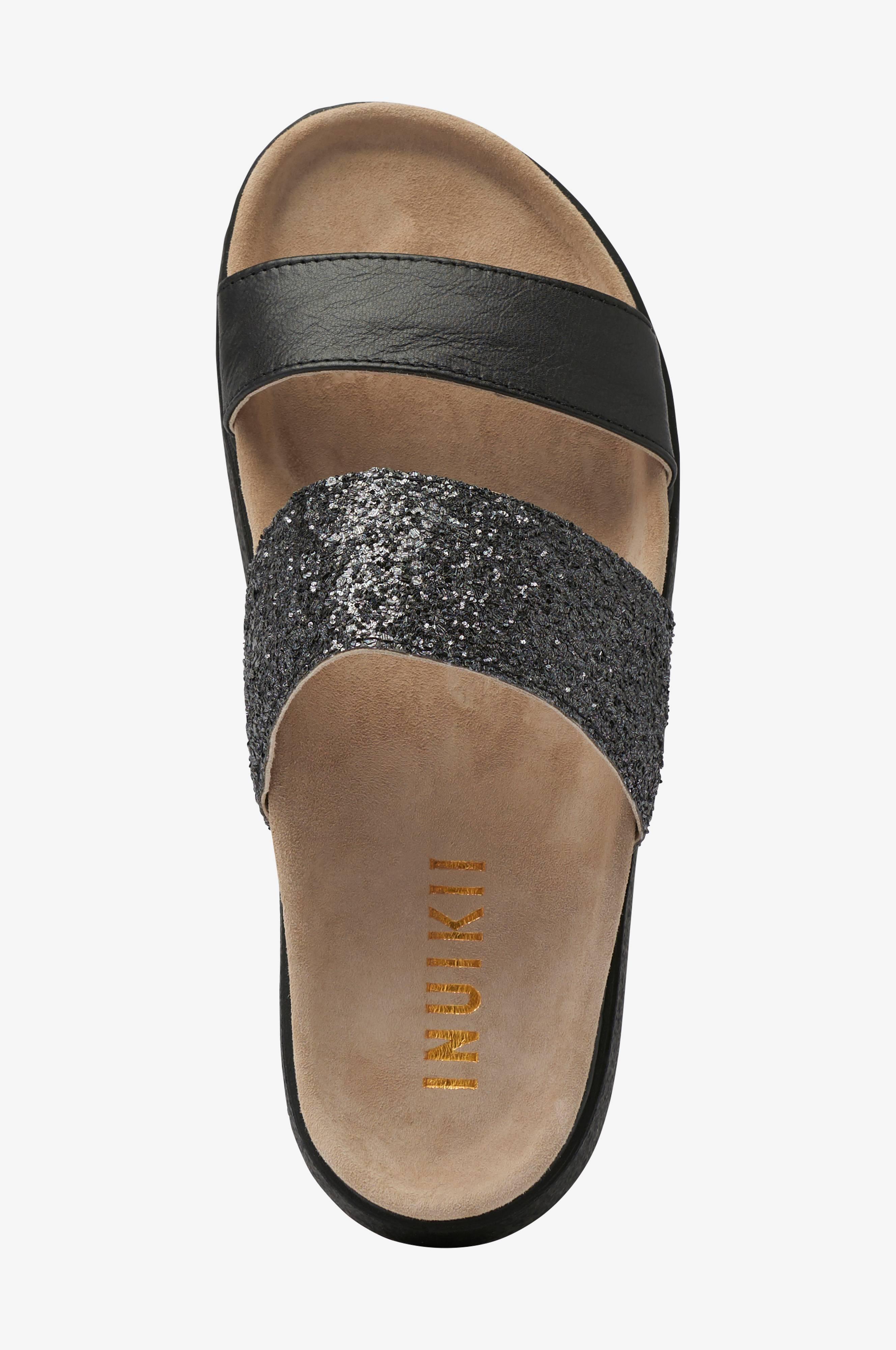INUIKII Sandal Slipper Glitter Svart Dam Ellos.se