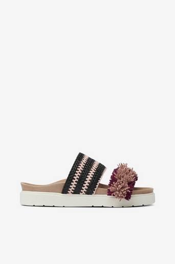 Sandaalit Slipper Raffia Striped