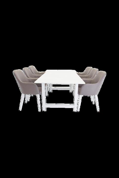 Matgrupp med Canet bord och  6 st Croft stolar
